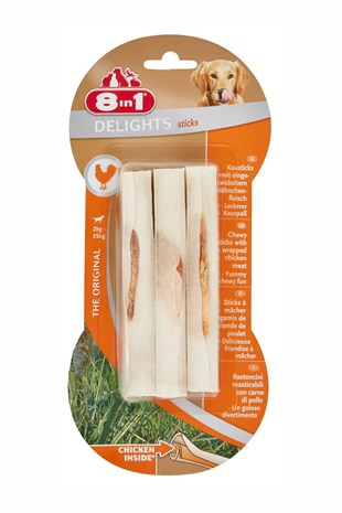 8 in 1 Delight Sticks Köpek Çiğneme Burgu Çubuk 75 Gr